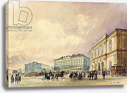 Постер Альт Рудольф The Southstation, Vienna; Der Sudbahnhof, Wien, 1852