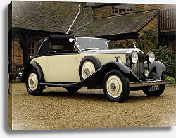 Постер Rolls-Royce 20 25 Drophead Coupe by Young '1934