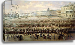 Постер Шварц Густав Unveiling of the Paul I memorial in Gatchina, 1850
