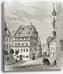 Постер Albrecht Durer house in Nuremberg, Germany. Created by Thrond and Terington, published on Le Tour du