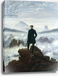 Постер Фридрих Каспар (Caspar David Friedrich) The Wanderer above the Sea of Fog, 1818