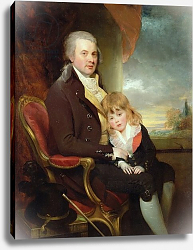 Постер Биши Уильям Сэр Edward George Lind and his Son, Montague,