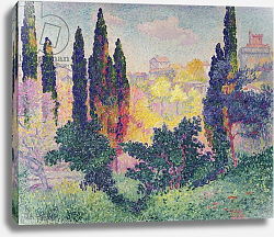Постер Кросс Анри The Cypresses at Cagnes, 1908