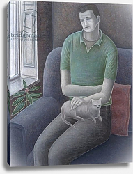 Постер Эдиналл Рут (совр) Young Man with Cat, 2008