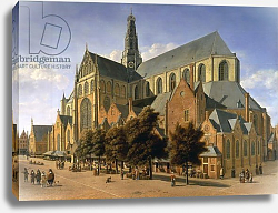 Постер Беркхейде Геррит Church of St. Bavo in Haarlem, 1666