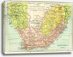 Постер Map of South Africa since 1815, Kaffir and Boer Wars, published 1916.