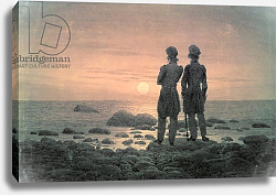 Постер Фридрих Каспар (Caspar David Friedrich) Two Men by The Sea