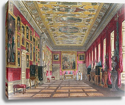 Постер Пайн Уильям (грав) The King's Gallery, Kensington Palace from Pyne's 'Royal Residences', 1818