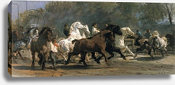 Постер Бонхер Роза Study for the Horsemarket, 1900