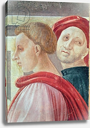 Постер Учелло Паоло Heads of two men, from the Presentation of Mary in the Temple, 1433-34