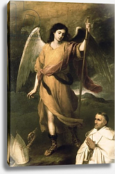 Постер Мурильо Бартоломе Archangel Raphael with Bishop Domonte