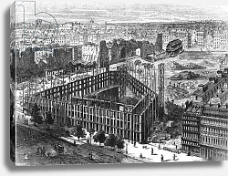 Постер Торигни Феликс (грав) Transformation of Paris: Building in 1861, engraved by Predhomme
