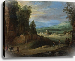 Постер Брил Поль Landscape with Men Playing 'Mail à la Chicane', 1624