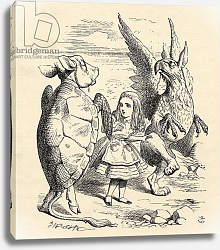 Постер Тениель Джон Alice with the Gryphon and the Mock Turtle, 1891
