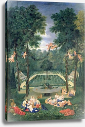 Постер Котель Джин Младший Groves of Versailles, view of the Marais with Venus and Echo, 1688