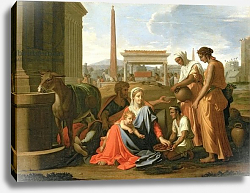 Постер Пуссен Никола (Nicolas Poussin) The Rest on the Flight into Egypt 2