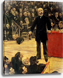 Постер Рафаэлли Жан-Франсуа  Georges Clemenceau Making a Speech at the Cirque Fernando, 1883