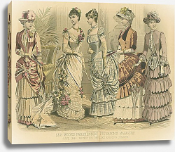 Постер June, 1884. Reception Dresses. Evening Dresses