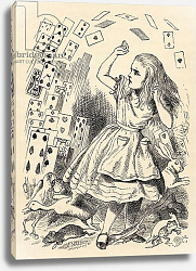 Постер Тениель Джон Alice and the Pack of Cards, from 'Alice's Adventures in Wonderland'