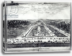 Постер Сильвестр Израель Perspective View of the Garden of Vaux-le-Vicomte