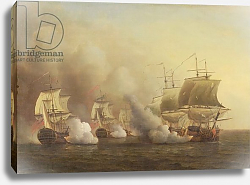 Постер Скотт Самуэль Action Off the Cape of Good Hope, March 9th, 1757