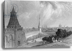 Постер Викерс альфред (грав, москва) Moscow from the Esplanade of the Kremlin, engraved by J. T. Willmore