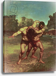 Постер Курбе Гюстав (Gustave Courbet) The Wrestlers, 1853