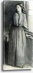 Постер Розетти Данте Elizabeth Siddal, May 1854