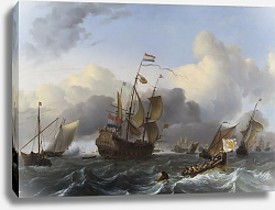 Постер Бахуйзен Людольф The Eendracht and a Fleet of Dutch Men-of-war