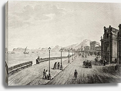 Постер Palermo promenade, Sicily, The original engraving, created by B. Rosaspina, may be dated to the firs