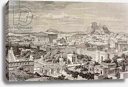 Постер Школа: Европейская Artist's impression of Athens, at the time of the Emperor Hadrian, from 'El Mundo Ilustrado', 1880