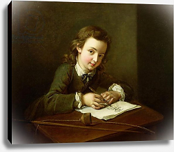 Постер Мерсье Филипп Boy Drawing at a Table