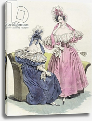Постер Школа: Французская Fashion plate from, 'Le Follet Courrier des Salons Modes', 1832