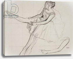 Постер Дега Эдгар (Edgar Degas) PD.23-1978 Dancer adjusting her tights, c.1880