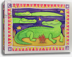 Постер Бакстер Кэти (совр) Crocodiles