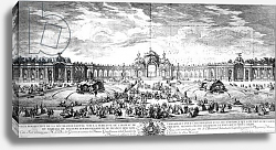 Постер Школа: Французская 18в. Perspective view of the terrace at Versailles, 1741