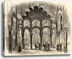 Постер Школа: Английская 19в. The Great Mosque, Cordoba, illustration from 'Spanish Pictures' by the Rev. Samuel Manning