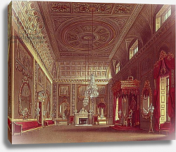 Постер Пайн Уильям (грав) The Saloon, Buckingham Palace from Pyne's 'Royal Residences', 1818