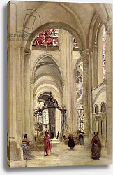 Постер Коро Жан (Jean-Baptiste Corot) Interior of the Cathedral of St. Etienne, Sens, c.1874