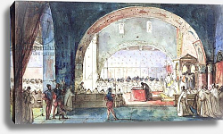 Постер Гране Франсуа The meeting of the Chapter of the Order of the Temple held in Paris in 1147