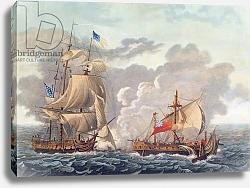 Постер Гарнерей Луис The Taking of the English Vessel 'The Java' by the American Frigate, 'The Constitution', 1812