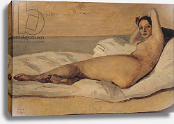 Постер Коро Жан (Jean-Baptiste Corot) The Roman Odalisque 1843