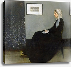 Постер Уислер Джеймс Arrangement in Grey and Black No.1, Portrait of the Artist's Mother, 1871