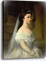 Постер Школа: Австрийская 19в. Elizabeth of Bavaria, Empress of Austria