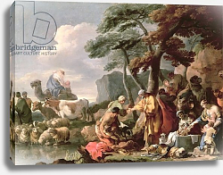 Постер Бурдон Себастьян Jacob burying the strange gods under the oak by Shechem