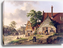 Постер Верхейен Ян Голландская деревушка