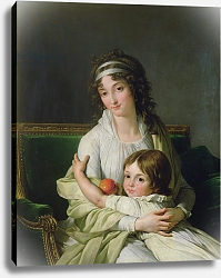 Постер Винсент Франсуа Portrait presumed to be Madame Jeanne-Justine Boyer-Fonfrede and her son, Henri