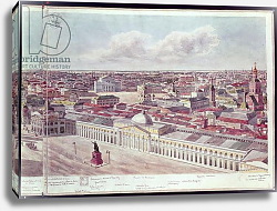 Постер Гадоле (Москва) Panorama of Moscow, depicting the department store 'Gum' and the Bolshoi Theatre in Red Square, 1819