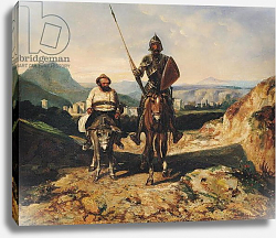 Постер Декампс Александр Don Quixote and Sancho