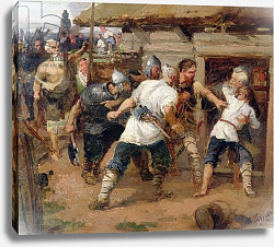 Постер Суриков Василий The Pagans killed the first Christians of Kievan Rus, 1884